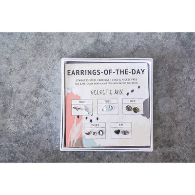 Earrings of the day - Eclectic Stud Set
