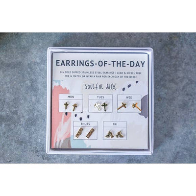 Earrings of the day - Soulful Mix Stud Set