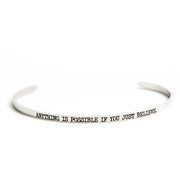 Anything is Possible If You Just Believe Bangle Religious Delicate Cuff Bangle - Jaeci Jewlery