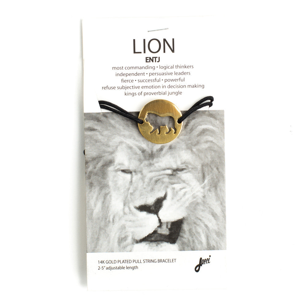 Lion Spirit Animal Bracelet ENTJ