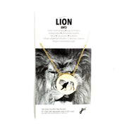 Lion Animal Necklace ENTJ Spirit Animal Necklace - Jaeci Jewlery