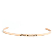 Love is My Religion Delicate Bangle Religious Delicate Cuff Bangle - Jaeci Jewlery