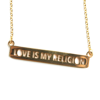 DELICATE LOVE IS MY RELIGION NECKLACE Religious Jewelry - Jaeci Jewlery