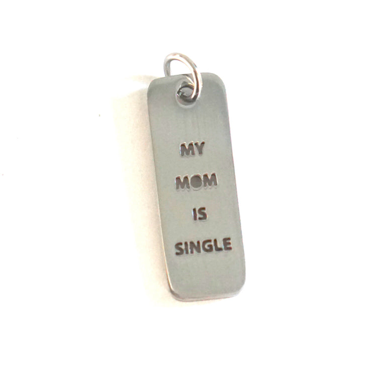 MOM SINGLE DOG TAG Pet Tag - Jaeci Jewlery