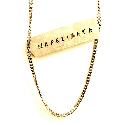 Nefelibata Word Cloud Cutout Necklace  - Jaeci Jewlery