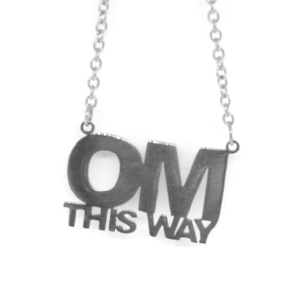 Om This Way Necklace Short Necklace - Jaeci Jewlery