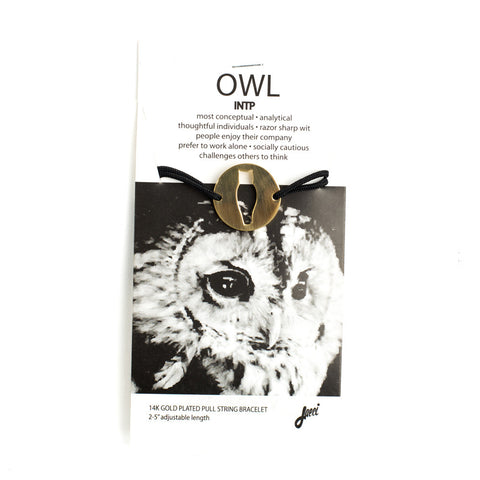 Owl Spirit Animal Bracelet INTP