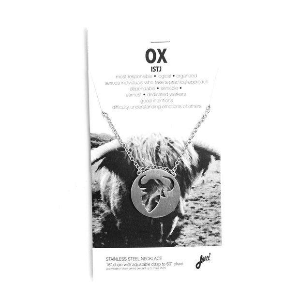 Ox Animal Necklace ISTJ Spirit Animal Necklace - Jaeci Jewlery