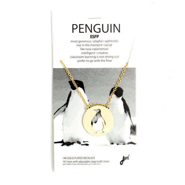 Penguin Spirit Animal Necklace ESFP Spirit Animal Necklace - Jaeci Jewlery