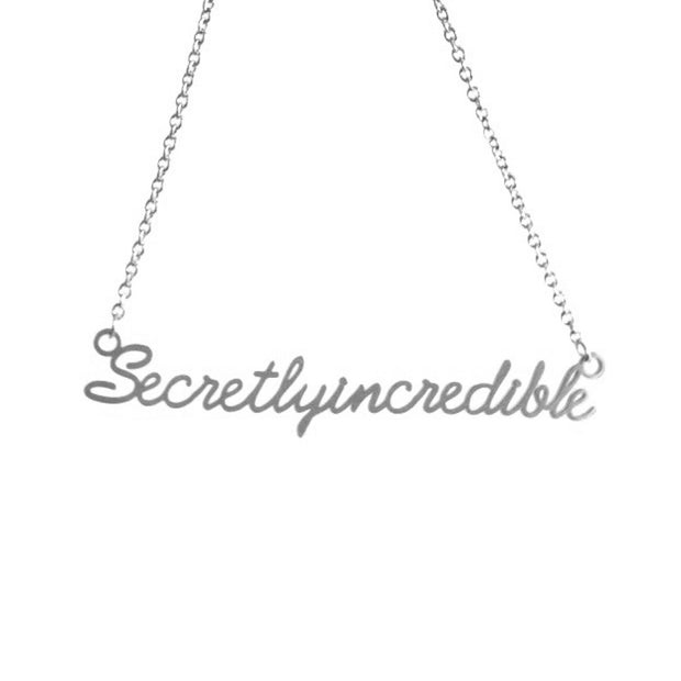 SECRETLY INCREDIBLE SCRIPT NECKLACE Short Necklace - Jaeci Jewlery