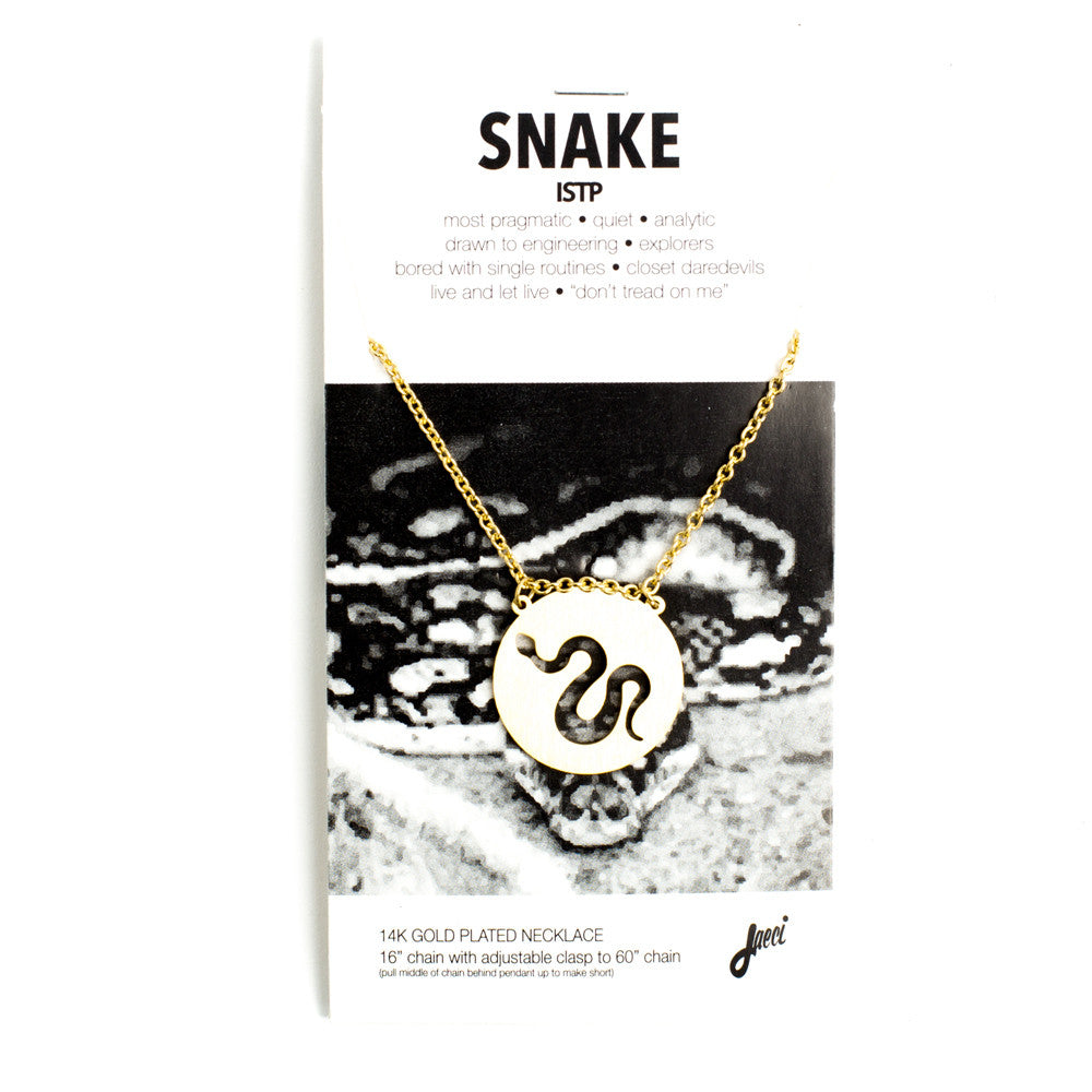 Snake Spirit Animal Necklace ISTP