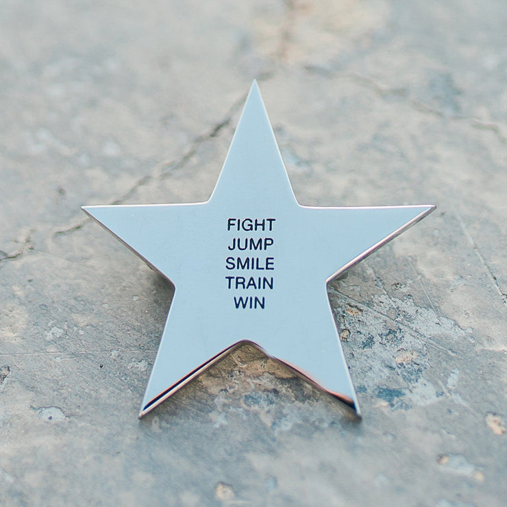 Fight. Jump. Smile. Train. Win. Enamel Pin Pin - Jaeci Jewlery