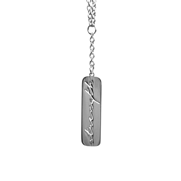 Absofuckinlutely Silver Bar Necklace