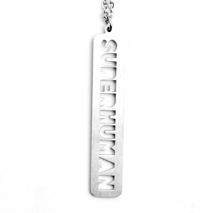 Super Human Cutout Necklace Discontinued - Jaeci Jewlery