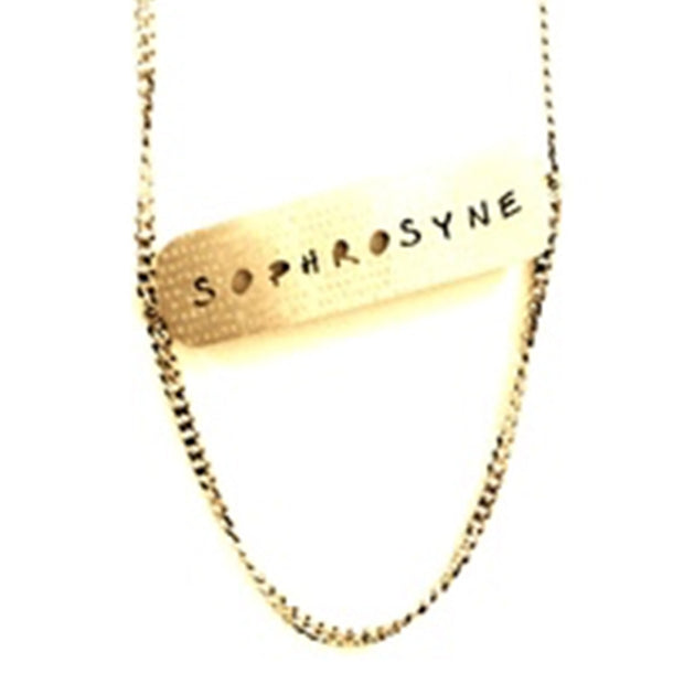 Sophrosyne Word Cloud Cutout Necklace Discontinued - Jaeci Jewlery