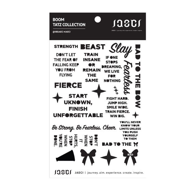Boom Temporary Tatz Sheet Temporary Tattoos - Jaeci Jewlery