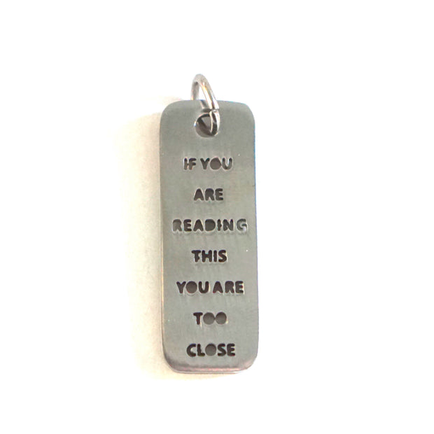 TOO CLOSE DOG TAG Pet Tag - Jaeci Jewlery