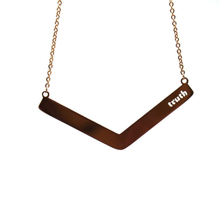 Truth Angle Bar Necklace Religious Jewelry - Jaeci Jewlery