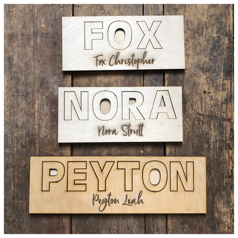 Custom Name Puzzle Laser Cut Out
