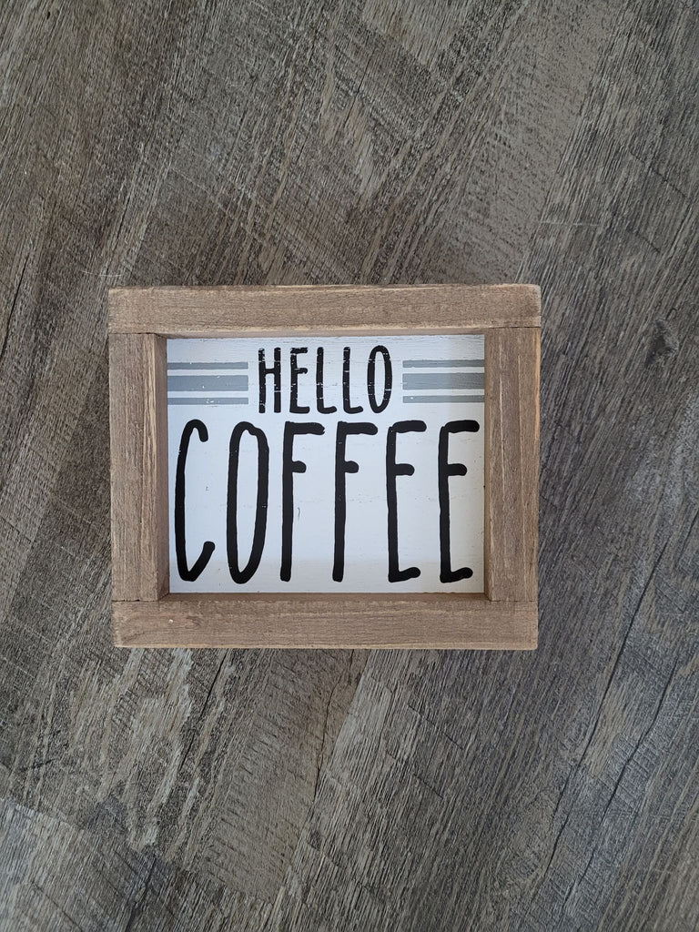 Mini Hello Coffee sign