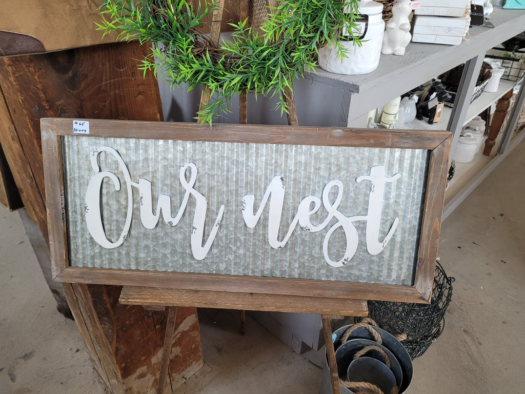 Our Nest Tin Sign