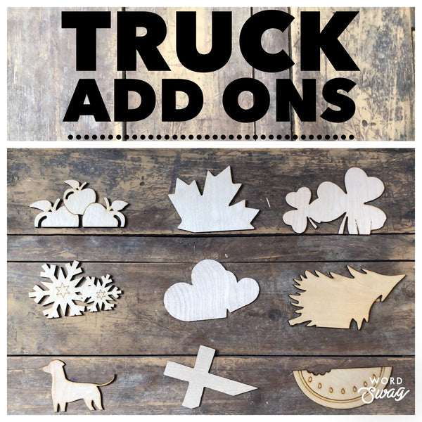 Interchangeable Vintage Truck- Take and Make