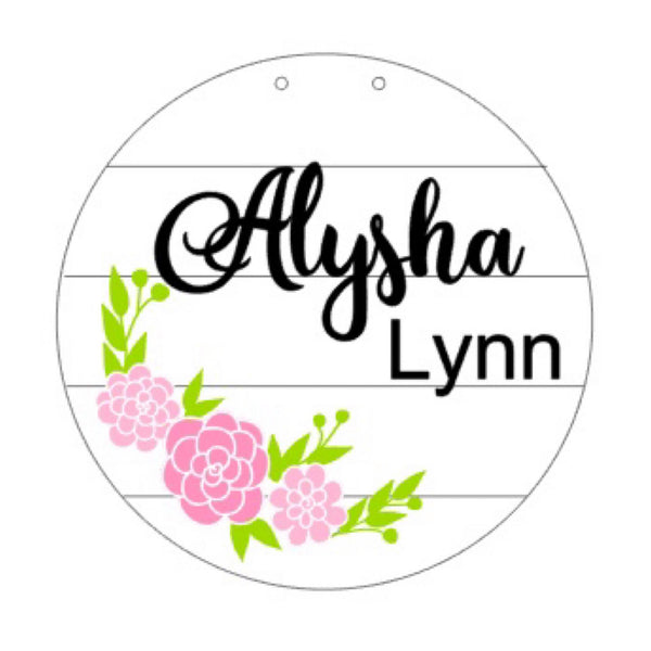 Floral Ring Birth Announcement