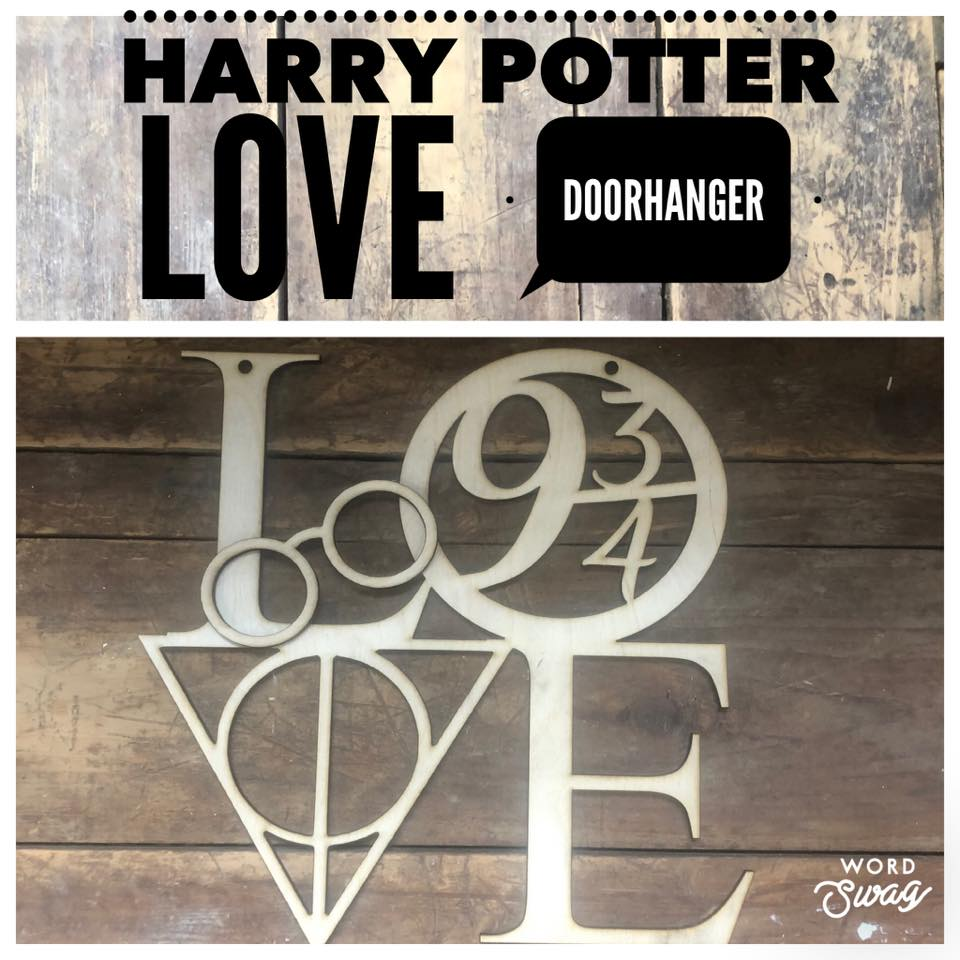 Harry Potter LOVE Door hanger