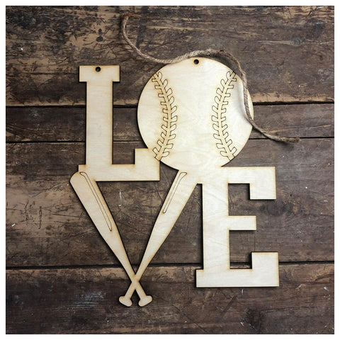 LOVE Baseball Hanger