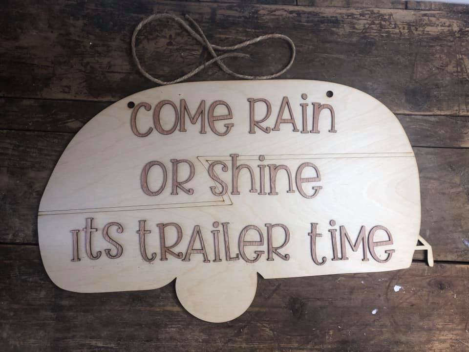 Rain Or Shine Trailer DoorHanger