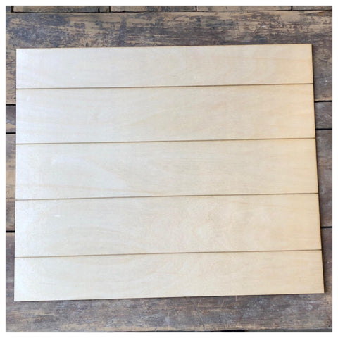 Faux ShipLap Rectangle