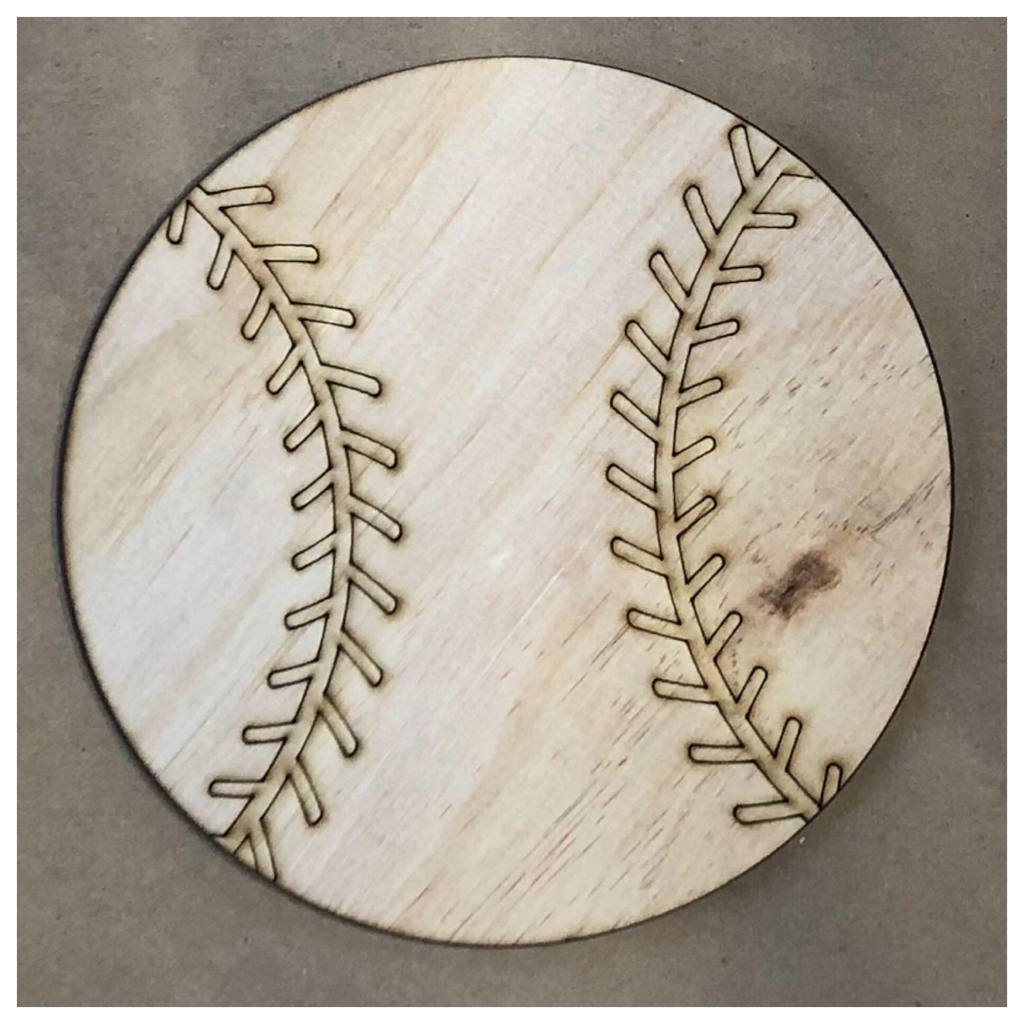 Baseball Laser Cut Out