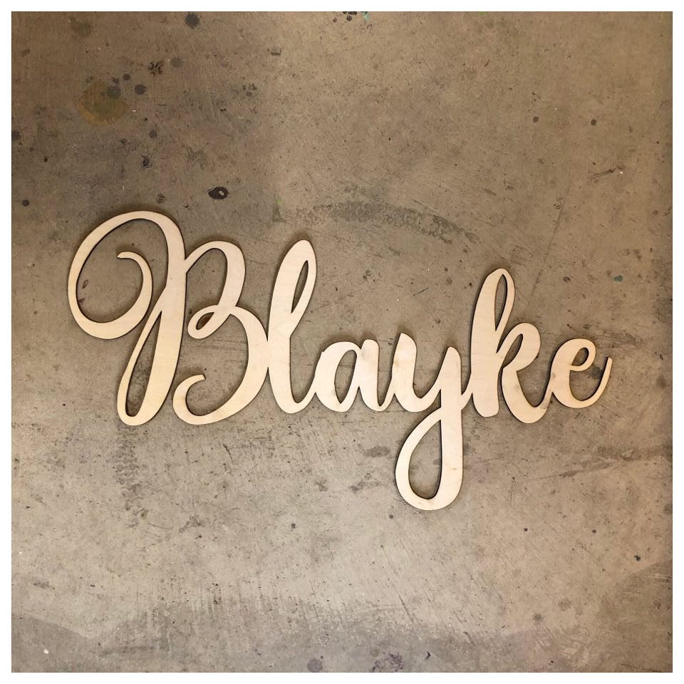 CUSTOM NAME Laser Cut Out