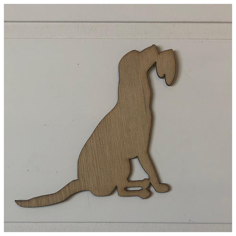Dog with heart Laser Cut Out
