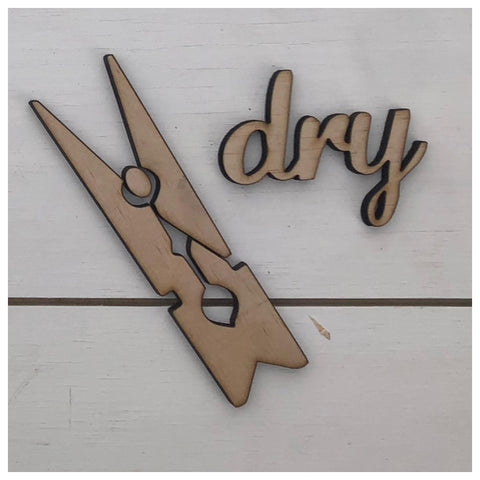 Dry & Clothes Peg Laser Cut Out
