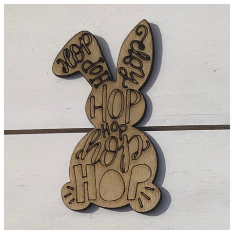 Engraved Bunny Laser Cut Out