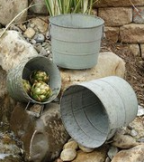 Grungy Buckets With Wood Handles