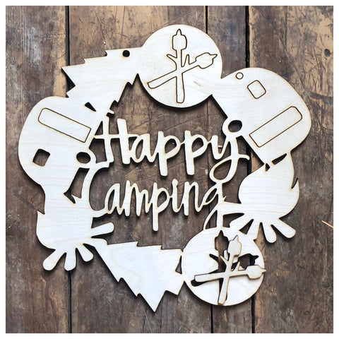 Happy Camping Door Hanger