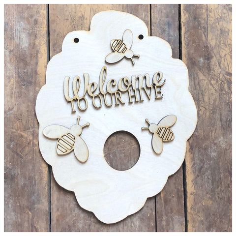 Welcome to our Hive- Door Hanger