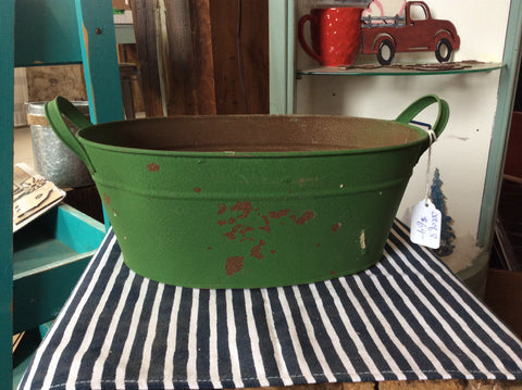 Oval Tubs - Vintage Green Small