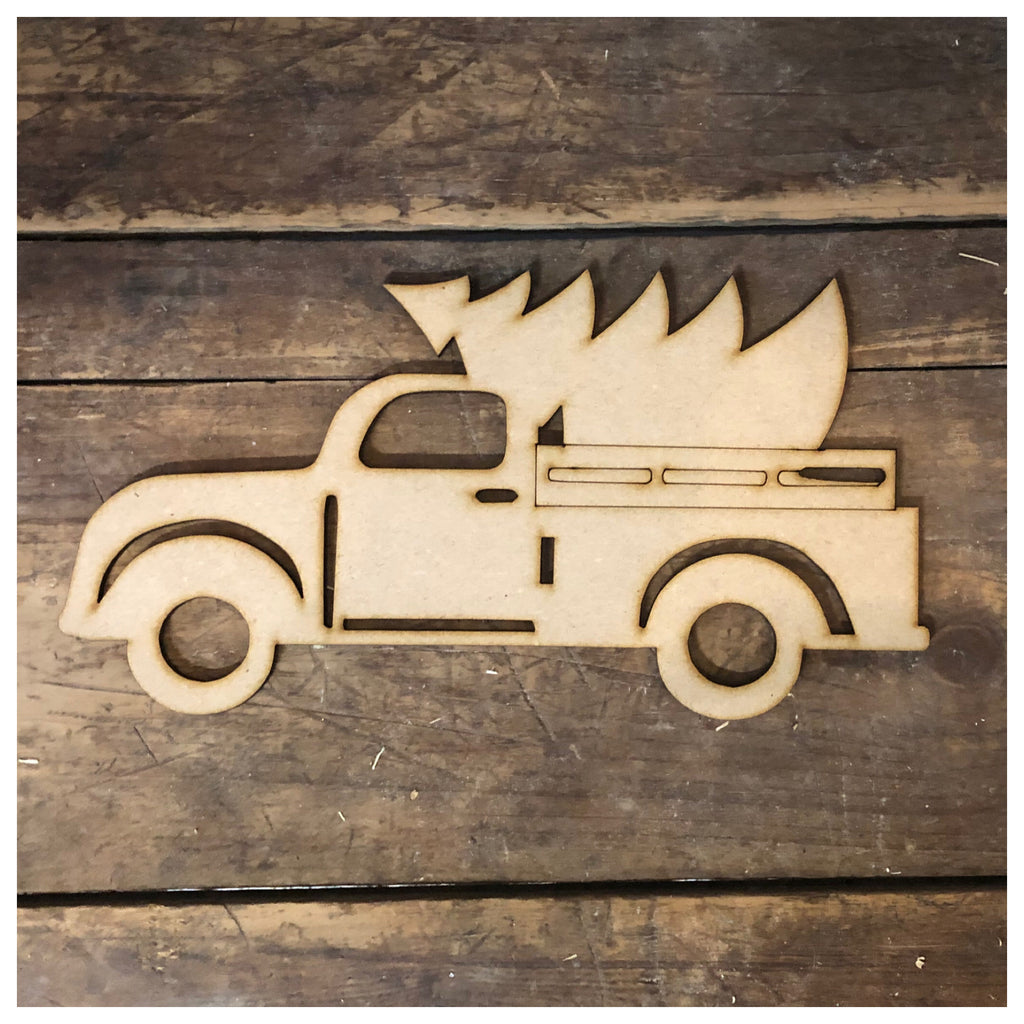 Truck with Tree  Laser Cut Out
