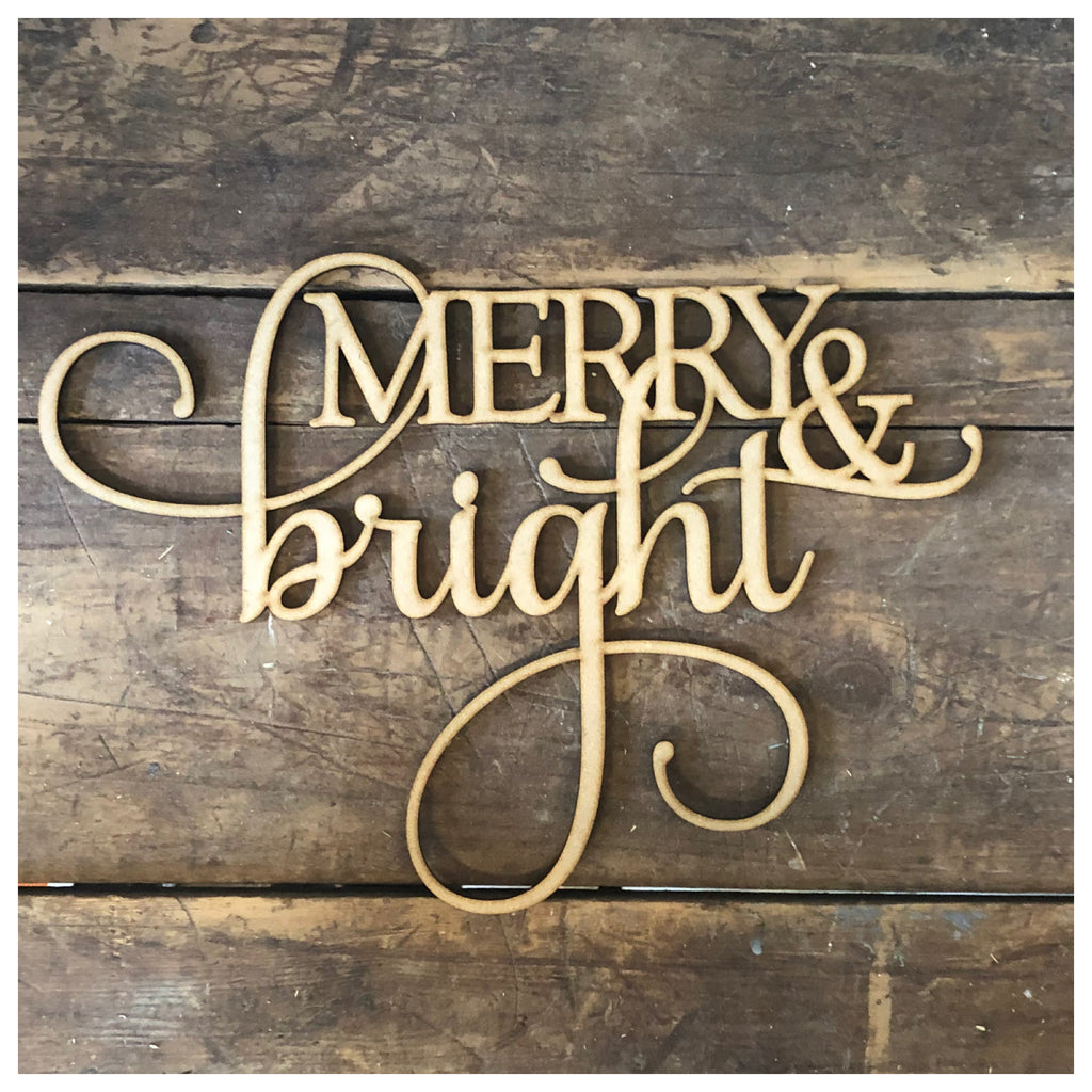 MERRY & bright Laser Cut Out