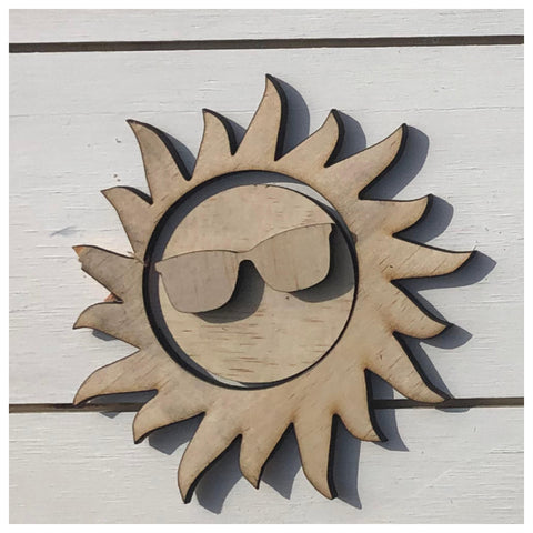 Sun with Shades Laser Cut Out