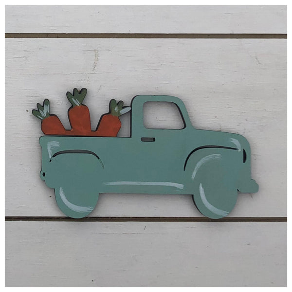 Truck with carrots Laser Cut Out