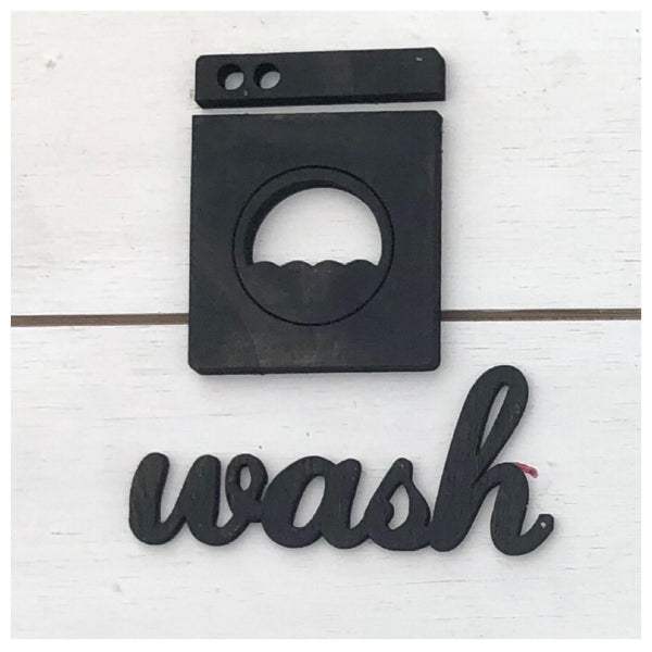 Wash and Washing Machine Laser Cut Out