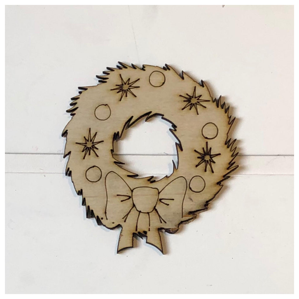 Christmas Wreath Laser Cut Out