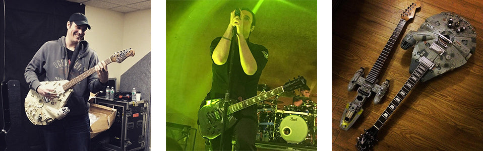 Ben Burnley of Breaking Benjamin with Doni Guitars.
