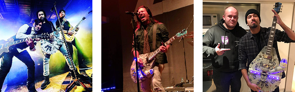 Leigh Kakaty of Pop Evil with Doni Guitars.