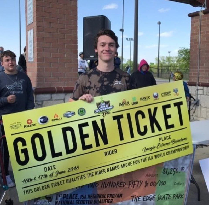 DeckedOut Scooters Shop Manager JonCollin Senka wins Golden Ticket to ISA World Championship