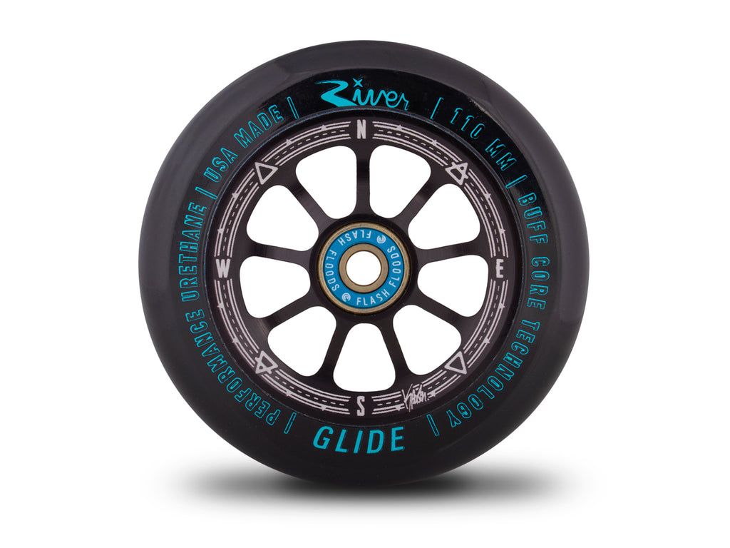 "River Wheel Co – ""Runaway"" Glides 110mm (Kevin Austin Signature) - DeckedOut Scooters"